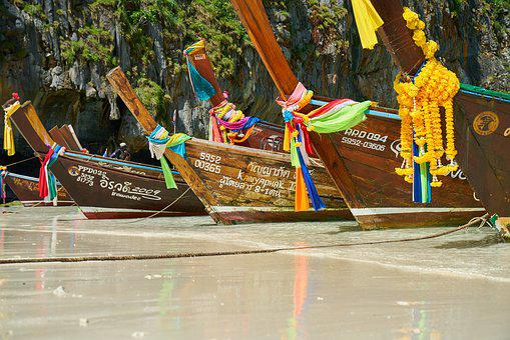 Thailand, Boat, Traditional, Culture, Beach, Marine