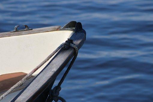 Water, Blue, Boat, Rope, Sea, Summer, Ocean, Marine