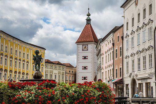 Wels, City Of Wels, Austria, Marketplace, Leather Tower