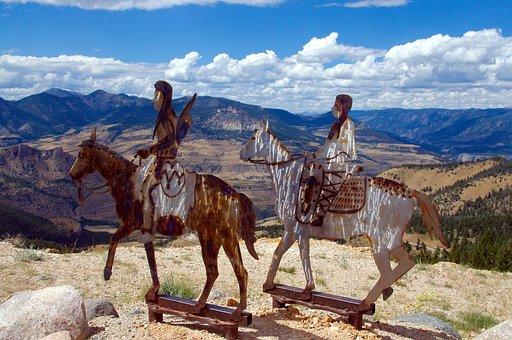 Chief Joseph Highway, Metal, Sculpture, Nez Perce
