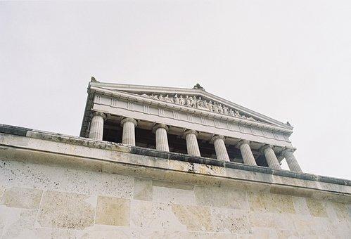 Walhalla, Monument, Building, Worship, Art