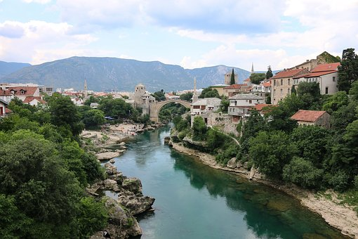 Mostar, Bosnia, Stari Most, Bridge, Architecture