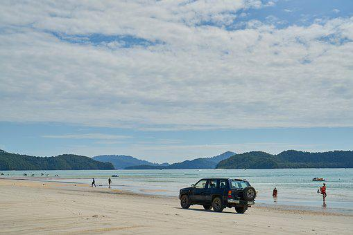 Beach, Car, Landscape, Marine, Beautiful, Nature