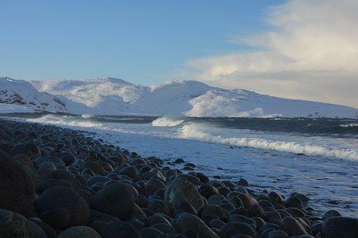 Ocean, Teriberka, Winter, Nature, Travel, Cold, North