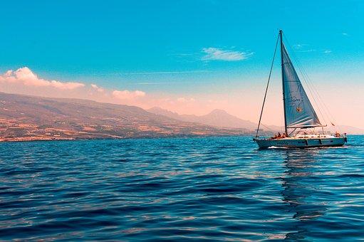 Boat, Ocean, Sea, Water, Sunset, Nature, Sky, Lake