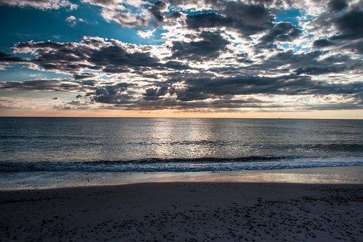 Denmark, Beach, Sunset, Color, North Sea, Sea