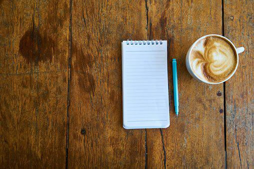 Coffee, Notebook, The Work, Pen, Cup, Office, Study
