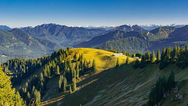 Landscape, Mountains, Panorama, View, Bavaria