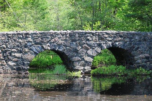 Bridge, Stones, Pierre, Water, River, Architecture