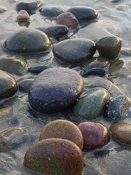 Stones, Riverstone, Seastone, Rocks, Shore, Sand, Sea