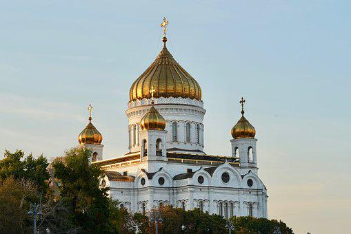Russia, Moscow, Church, Cathedral Of Christ The Saviour