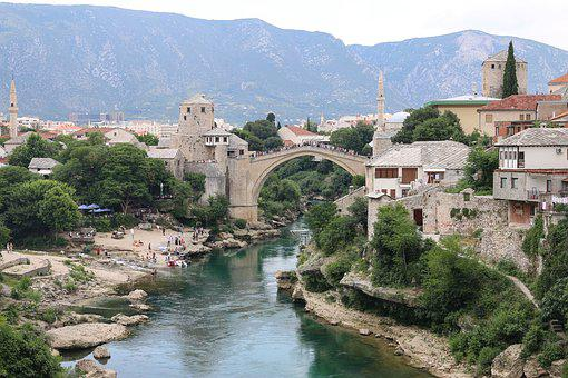 Mostar, Bosnia, Stari Most, Bridge, Architecture