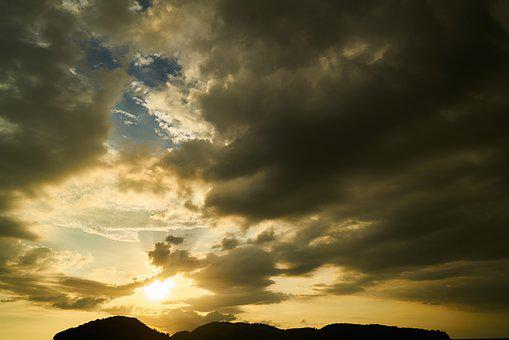 Landscape, Sunset, Sky, Nature, Clouds, In The Evening