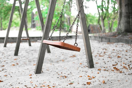 Empty, Swing, Park, Play, Playground, Childhood