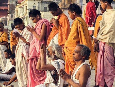 The Brahmanas, Varanasi, India, Pray, Kids, Teens