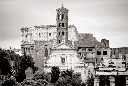 Rome, Coliseum, Church, Architecture, Antique, Roman