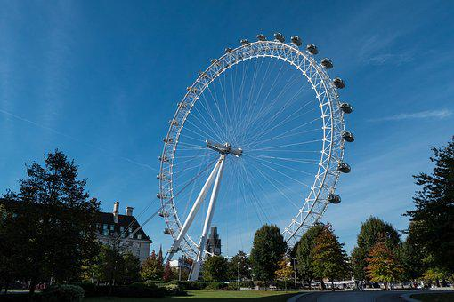 London Eye, London, Attraction, Thames, Landmark
