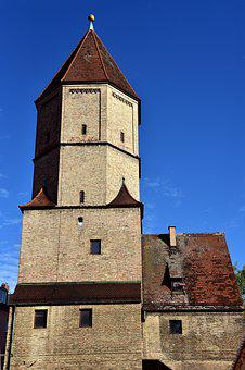 Augsburg, Jakobertor, Tower, City Wall, Historically