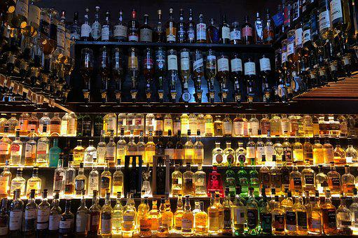 Bar, Flat, Whiskey, Beverages, Alcohol, Brandy, Spirits