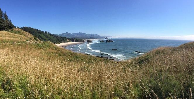 Ocean, Coast, Beach, Water, Nature, Landscape