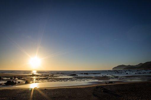 Natural Landscapes, Beach, Ocean, Sun, Dawn, Sand