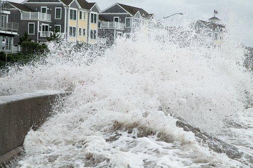 Storm Surge, Breech, Hurricane, Violent, Weather, Storm