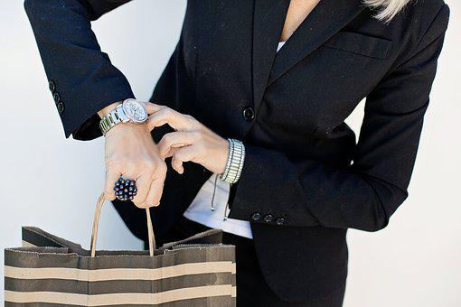 Checking Watch, Time, Shopping, Business Woman, Watch