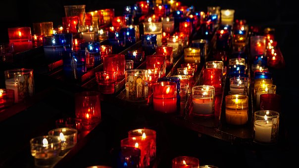 Candles, Church, Religion, Atmosphere, Meditation
