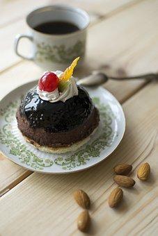 Chocolate Cake, Almonds, Coffee Break, Dessert, Sweet