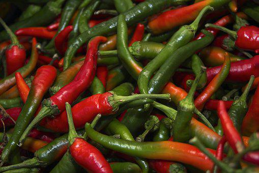 Pepper, Chilli, Spicy, Red, Food, Color