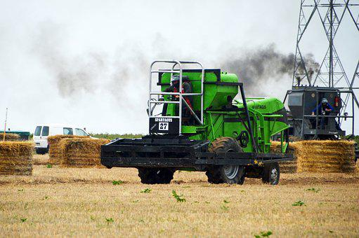 Combine Harvesters, Race, Farm, Agriculture, Earth