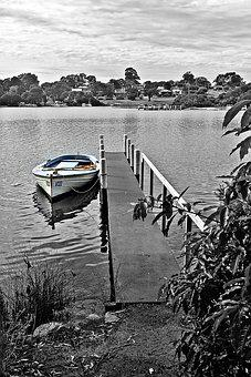 Boat, Pier, Mooring, Dock, Tranquil, Water, Lake, Jetty