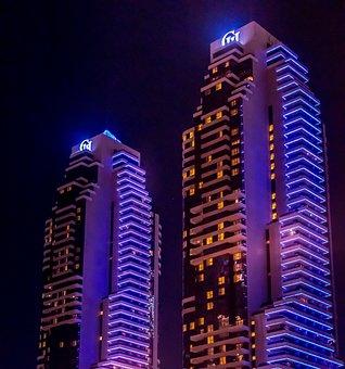 Dubai, Buildings, Skyscrapers, City, Tower