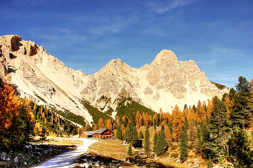 Fanes, Alta Badia, Alm, Nature, Rubble Field, Lake