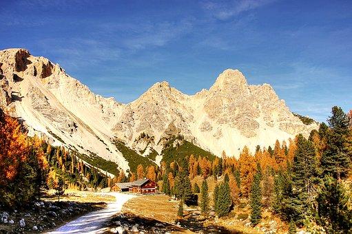 Fanes, Alta Badia, Alm, Nature, Rubble Field, Lake
