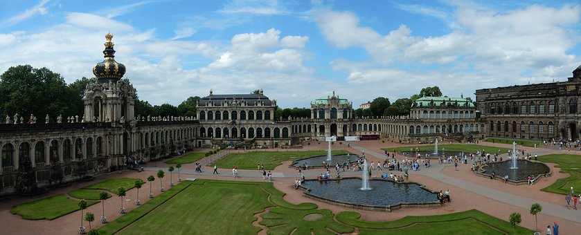 Dresden, Kennel, Crown Gate, Garden, Baroque