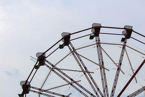 Ferris Wheel, High, Fun, Fair, Fairground, Attraction