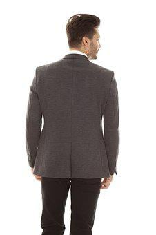 Jacket, Male, Rear, Back, Pose, Model, Man, People