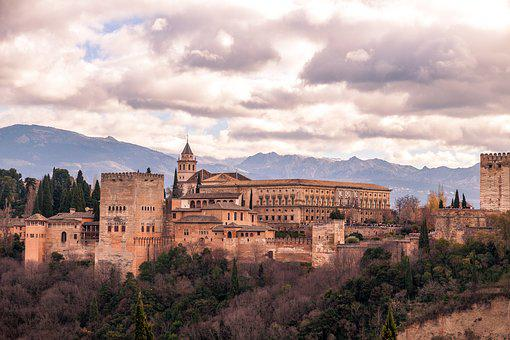 Landscape, Spain, Panorama, Mountains, Building