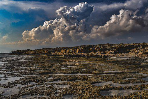Rocky Coast, Sea, Sky, Clouds, Dramatic, Landscape