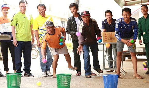 Laos, Vientiane, Mekong Hotel, Game, Entertainment