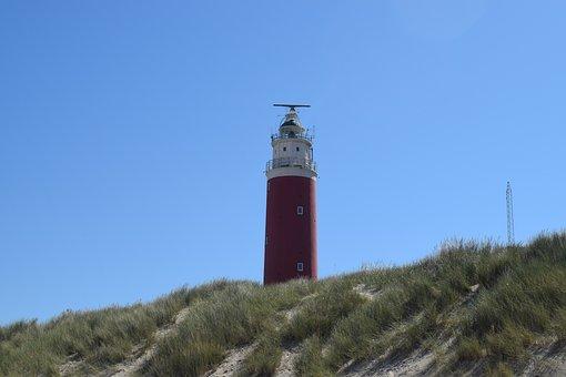 Lighthouse, Stand, Dunes, Coast, Beach, Vacations