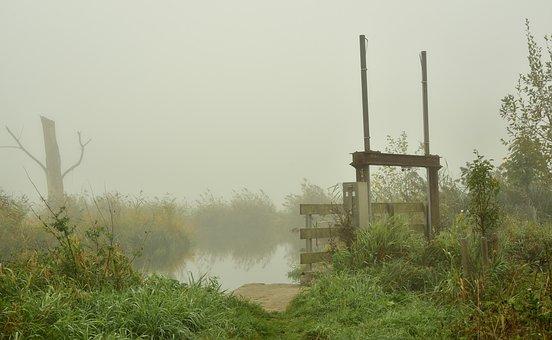 Lock, Fog, Water, Small, Nature, Moist, Wetland, Haze