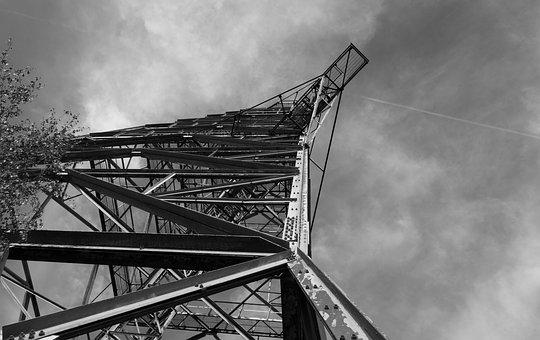 Lost Places, Radio Tower, Black And White, Structure