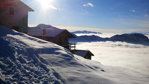 Mountain, Italy, Mountains, Nature, Alpine, Sky, Snow