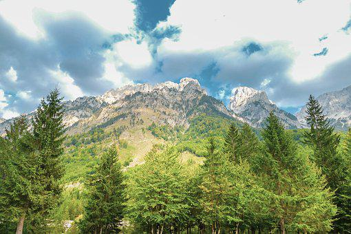Nature, Landscape, Clouds, Mountains, Forest, Trees