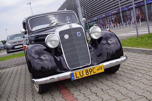 Old Auto, Mercedes, Auto, Oldtimer, Classic, Vehicle