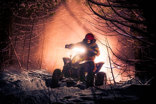 Four Wheel, Winter, Snow, Nature, Outdoors, Trees, Ride