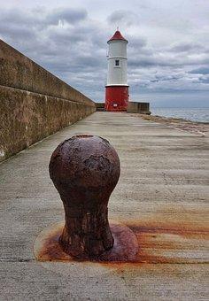 Lighthouse, Pier, Cloud