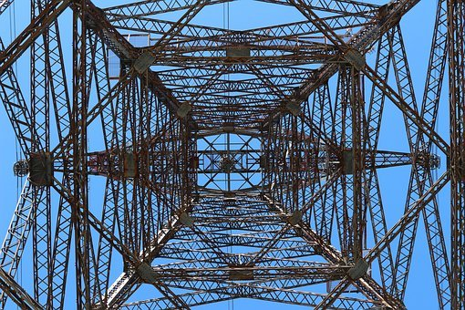 Pylon, Electricity, Energy, Sky, Steel, Voltage, Cable